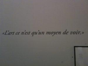 Brigitte Brunet, L'art n'est qu'un moyen de voir
